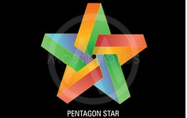 Vector illustratioin of pentagon star colorful.