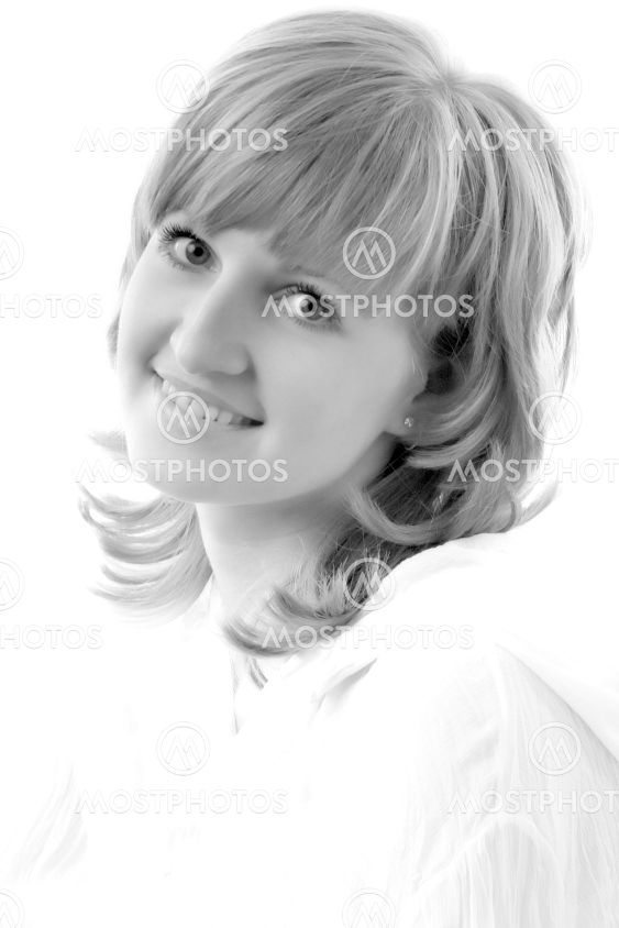 black and white woman portrait