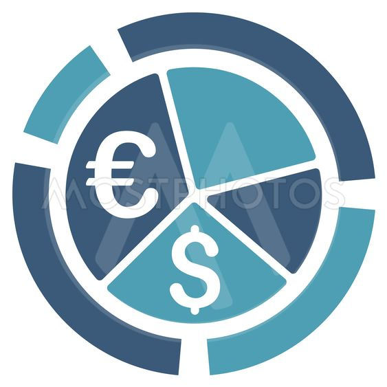 Currency Diagram Flat Vector Icon