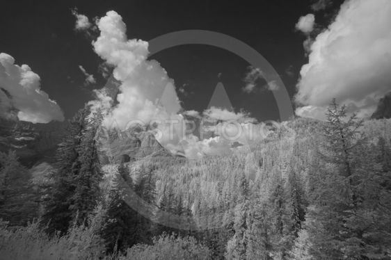 Infrared Landscape of Dolomites, Italy