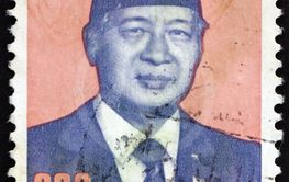 Postage stamp Indonesia 1989 Suharto, President of...