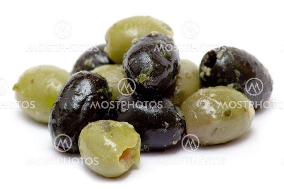 Grønne og sorte oliven