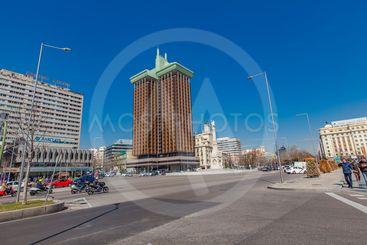 Plaza de Colon (Columbus Square) in Madrid, Spain