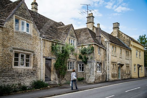 street in the market town of Corsham England, UK