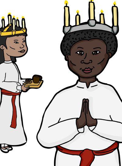 Women in Sankta Lucia Costume