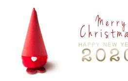 merry christmas and Happy new year card with  little...