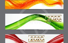 2020 Abstract Vector Illustration of New Year on...