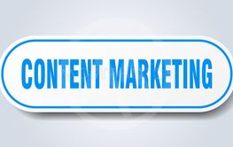 content marketing sign. content marketing rounded blue...