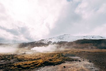 Geyser Valley in the southwest of Iceland. The famous...