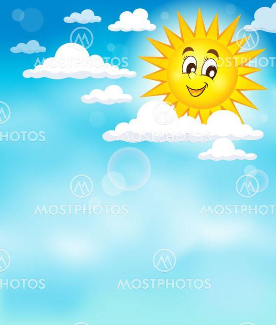 Sun on sky theme image 3