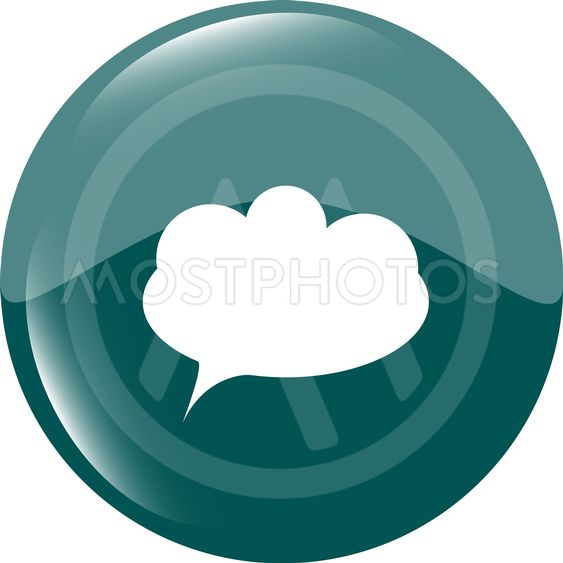 white cloud on internet icon isolated on white vector...