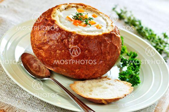 suppe i brød