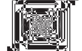 reversed frame tridimensional perspective intersections...