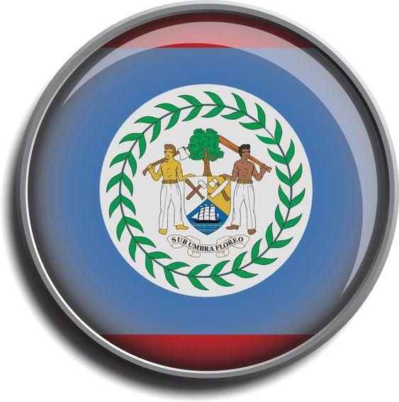 flag icon web button belize