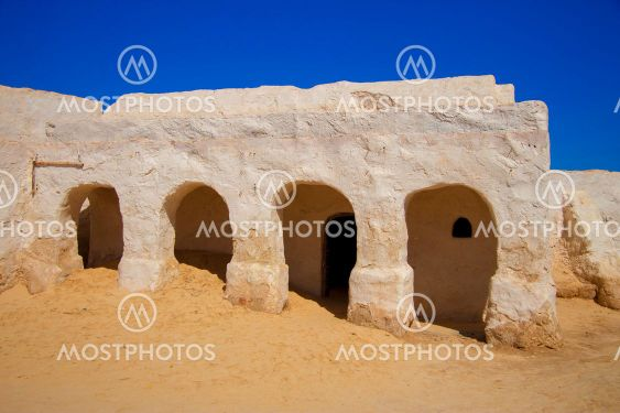Decorations of movie Star Wars Episode First in Sahara...
