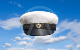 Swedish student cap on blue sky