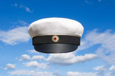 Swedish student cap on blue sky