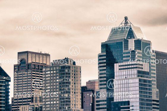 Bottom Up-visning af New York City skyskrabere