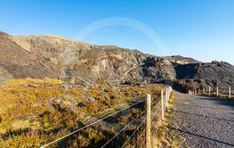 Dinorwic Slate Quarry from path, Snowdonia, North Wales