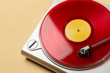 red vinyl record