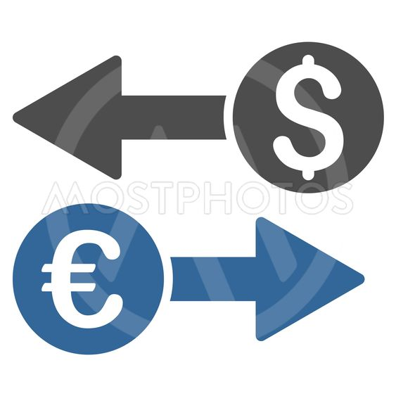 Currency Transfers Flat Vector Icon