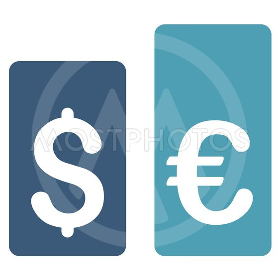 Currency Rate Bars Flat Vector Icon