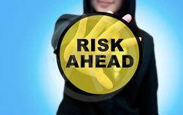 Busines woman and risk management concept