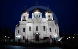 Cathedral of Christ the Savior in Pyatigorsk in wintertime
