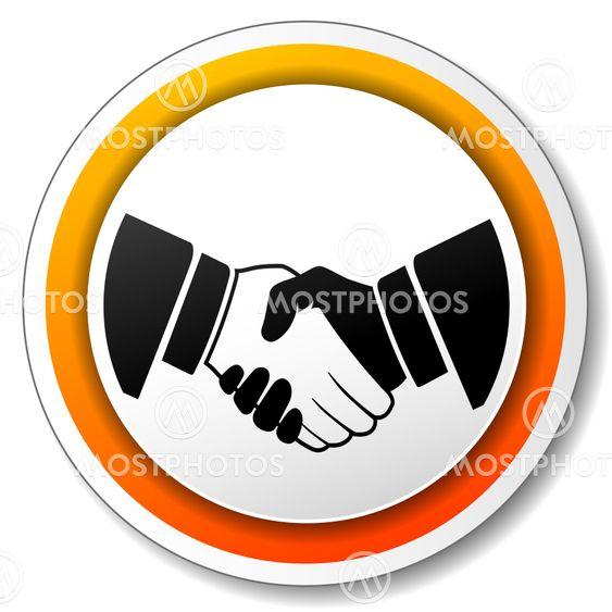 handshake orange icon