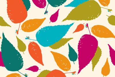 Seamless leaf pattern.