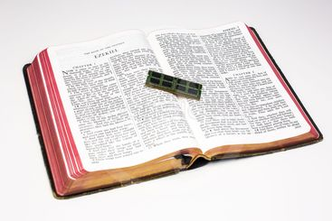 Worn Bible and Memory Card