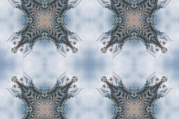 The seamless pattern of the tile is a square...