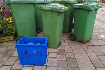 German waste bins