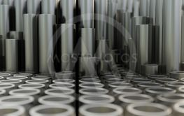 Abstract background of close up of metal pipe