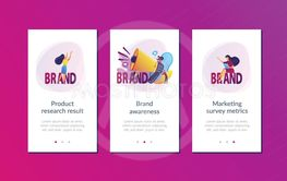 Brand awareness app interface template.