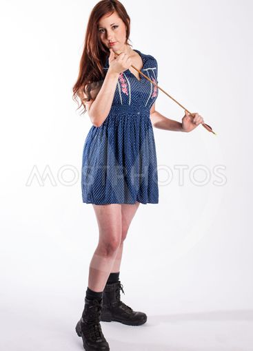 Red Haired Woman with Arrow