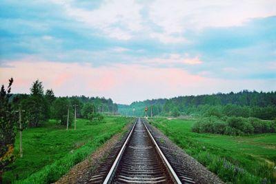 Evening - railway line
