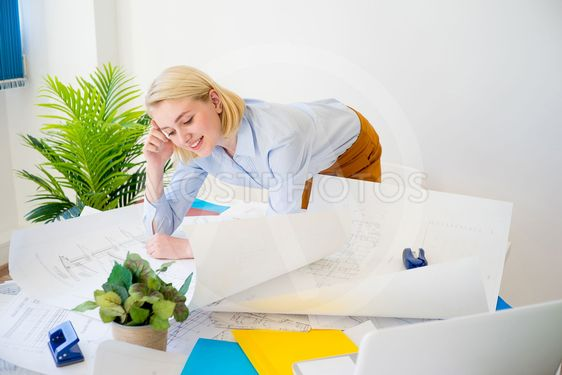 Businesswoman working on a project