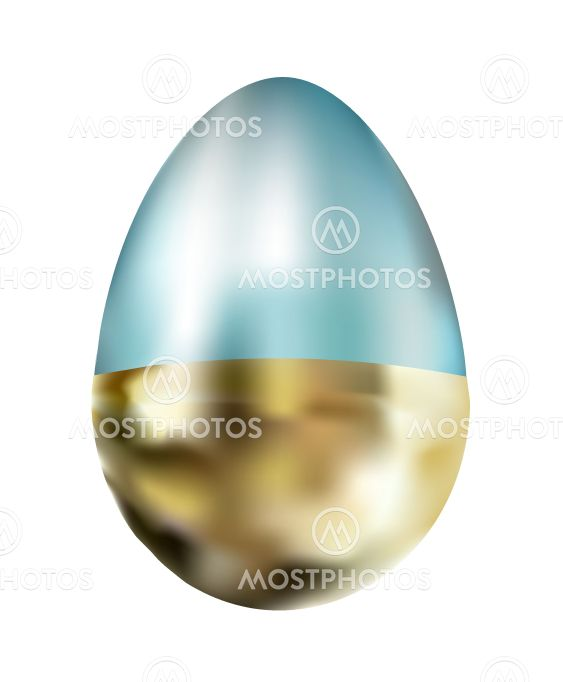 REALISTIC EASTERN EGG ON A WHITE BACKGROUND ISOLATED....