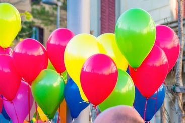 Balloons of all colors ready for the joy of children