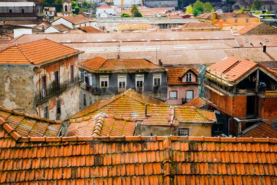 House roofs in Porto, Portugal