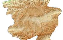 Relief map - Kastamonu (Turkey) - 3D-Rendering