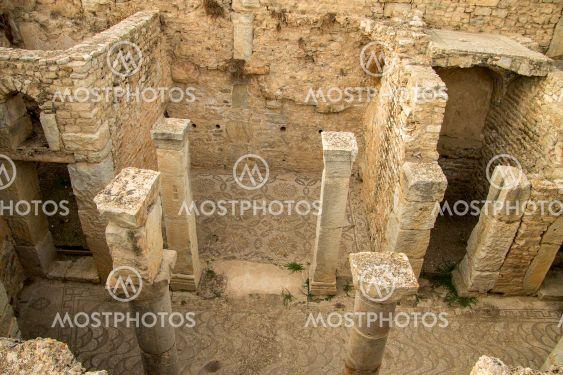 Inside of ancient town in Bulla Regia, Tunisia. Antic...