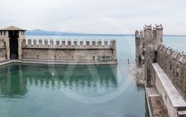 Inner pier protected by a Scaligero fortress wall in...