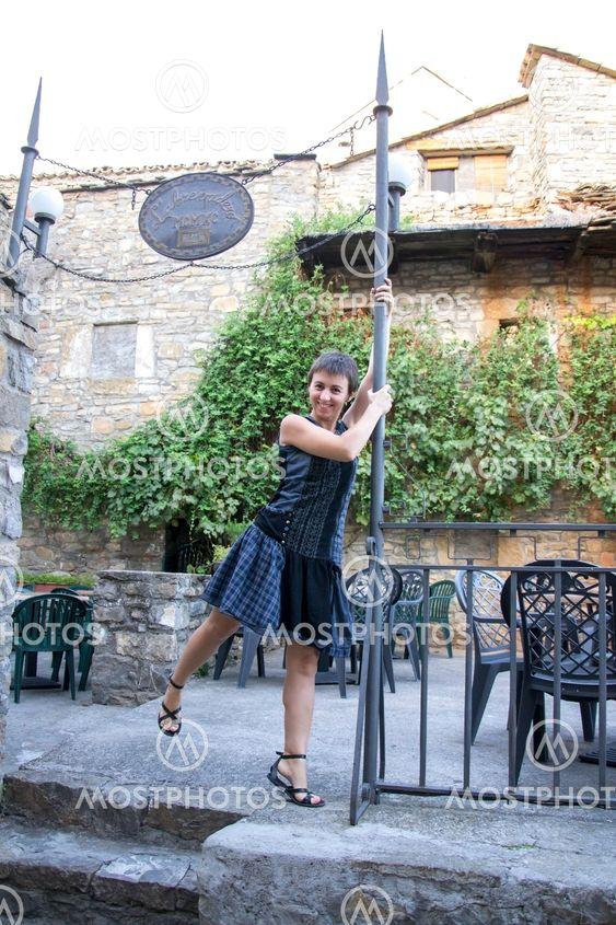 Carol dancing in Ainsa
