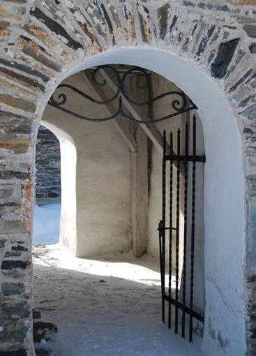 Entrance to the old church