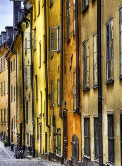 Old Town facades.