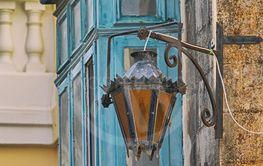 Beautiful old blue balcony on Malta.
