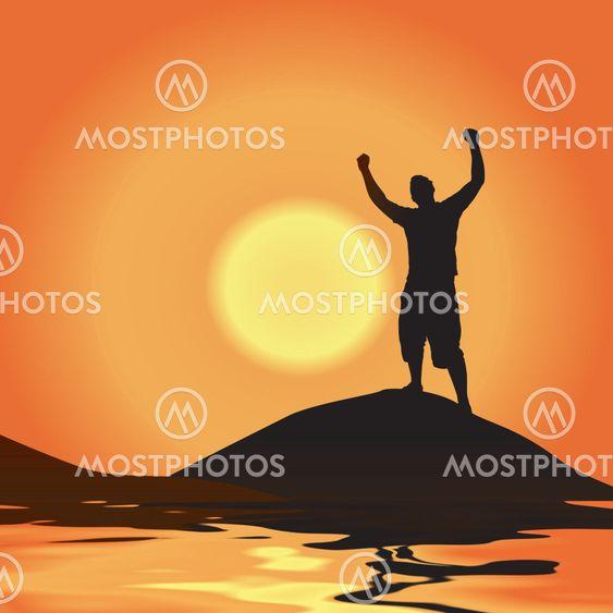 Voitto auringonlaskun aikaan