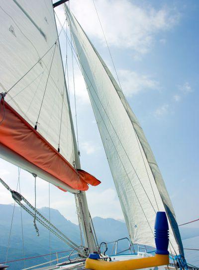 Sailing on Garda lake